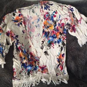 Flowered sweater